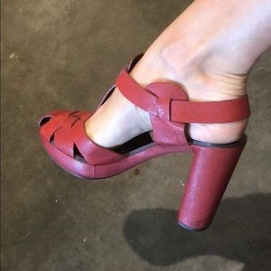 CHLOE Red Shoes